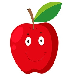 Red apple with happy face vector image