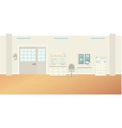 Scientific laboratory interior empty scene in vector