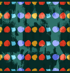 seamless colorful pattern with circles vector image