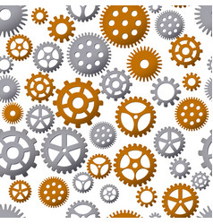 Seamless pattern background with gears vector