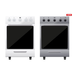 set of classic kitchen stove vector image