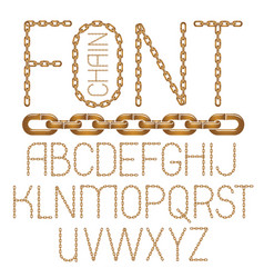 set of english alphabet letters isolated capital vector image