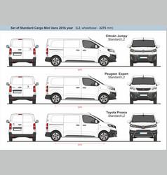 Set standard l2 cargo mini vans 2016 vector