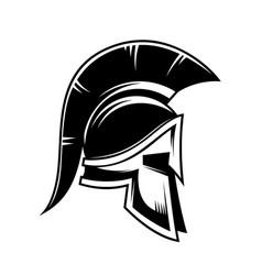 spartan warrior helmet design element for logo vector image