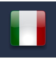 Square icon with flag of italy vector
