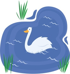 Swan Pond vector
