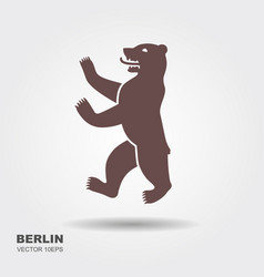 symbol berlin germany bear vector image