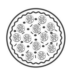Thin line pizza icon vector