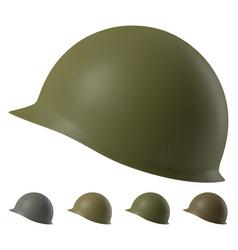 Us m1 military helmet vector
