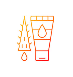 Using moisturizing lotion gradient linear icon vector