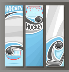 vertical banners for ice hockey vector image