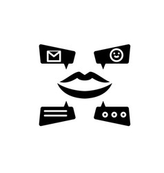 viral marketing campaign black icon sign vector image