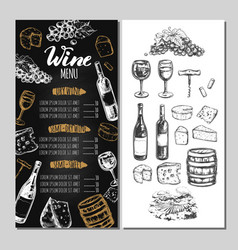 Wine restaurant menu 5 vector