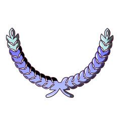winner wreath icon cartoon style vector image