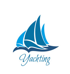 yachting organization icon vector image
