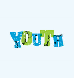 Youth concept stamped word art vector