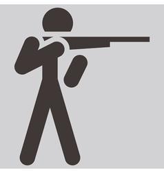 2266 shooting icon vector image