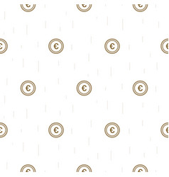 euro currency symbol abstract seamless pattern vector image