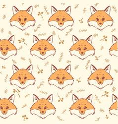 fox seamless vector image vector image