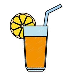 orange juice fruit icon vector image vector image