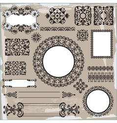 ornamental pattern on brown background vector image vector image