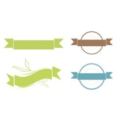 Ribbon Copyspace Design Set vector image