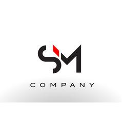 sm logo letter design vector image vector image