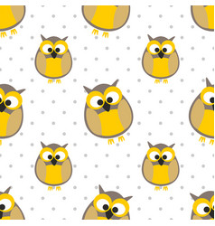 tile pattern with owls and dots vector image vector image