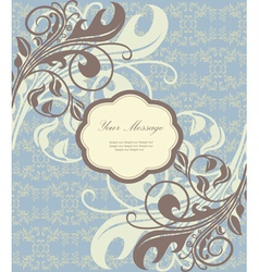 Beautiful floral card vector image vector image