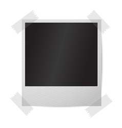 Blank realistic isolated on white instant vector image vector image