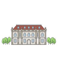 chateau icon vector image