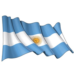 Flag of Argentina vector image vector image