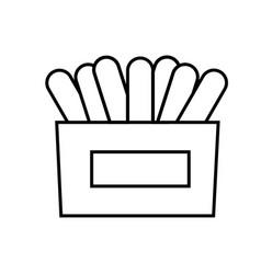 Napkins icon vector