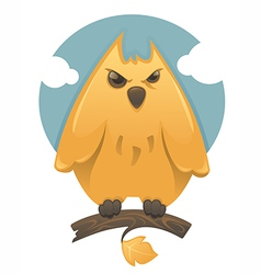 cartoon glossy owl vector image