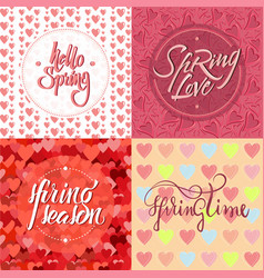 colorful light romantic spring backgrounds set vector image vector image