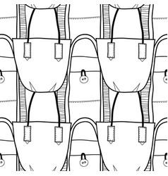 fashion women handbag for coloring book black and vector image vector image