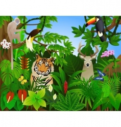 tropical animal in the jungle vector image