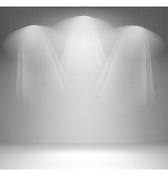 Wall with spotlight vector image vector image