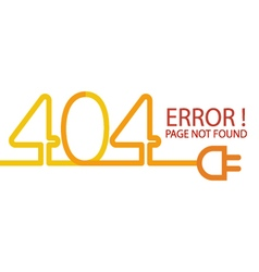 Abstract background 404 connection error vector image vector image