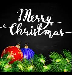 black chalkboard for christmas vector image vector image