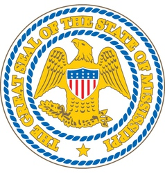 Mississippi Seal vector image vector image