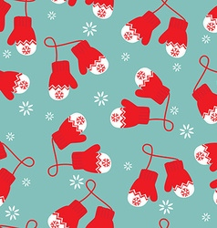 Mittens pattern vector image vector image