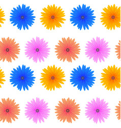 seamless colorful flower pattern vector image vector image