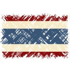 Thailand grunge flag vector image