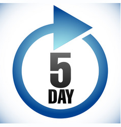 5 day turnaround time tat icon interval for vector