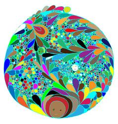 Abstract colored mandala alternative view no vector