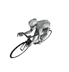 abstract polygonal cyclist vector image
