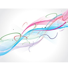 abstract rainbow wave line vector image