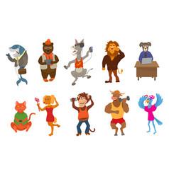 animals gadget animalistic cartoon vector image