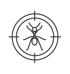 Ants target linear icon vector